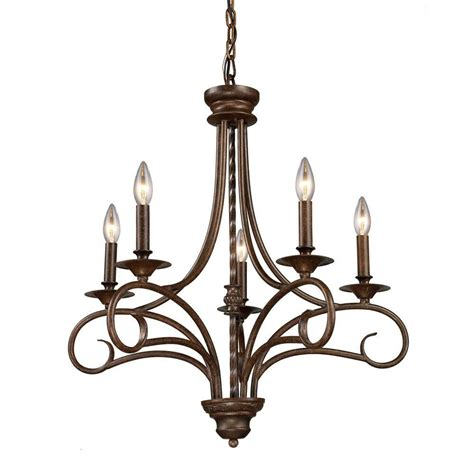 Antique Bronze Chandeliers Titan Lighting Gloucester 5 Light Antique Bronze Ceiling Chandelier Tn 7141 The Home Depot