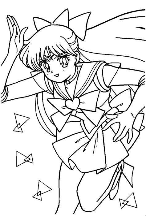 sailor venus coloring page sailormoon sailor moon