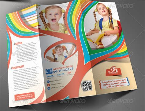 illustrator phlet template learning center u0026 elementary brochure template design