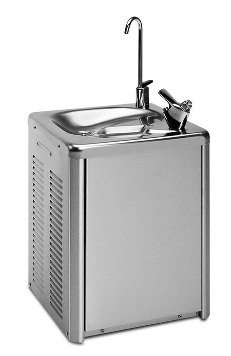 Drinking fountain - inox - cold water - wall mounted