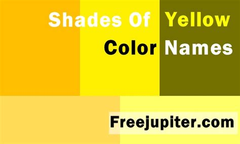 shades of yellow names colornames shades of yellow pictures to pin on pinterest