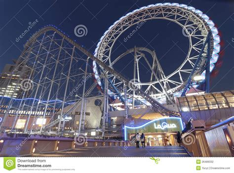theme park tokyo tokyo dome amusement park editorial photography image of