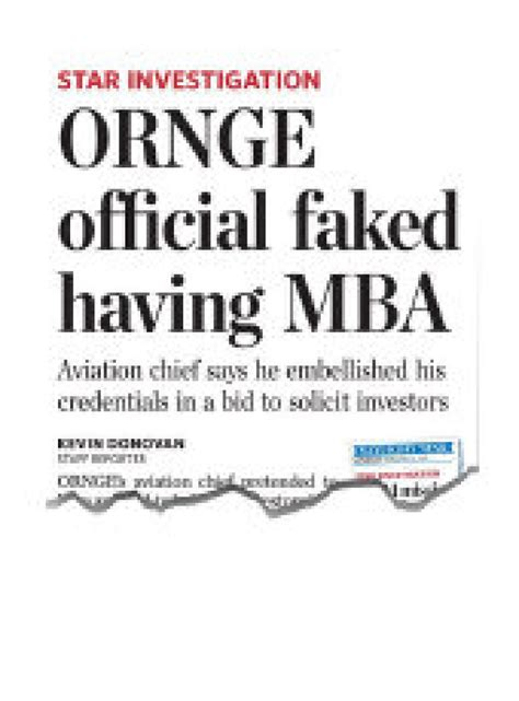 Top Executive Mba Programs In Canada by Ornge Demotes Top Executive Who Lied About Mba Toronto