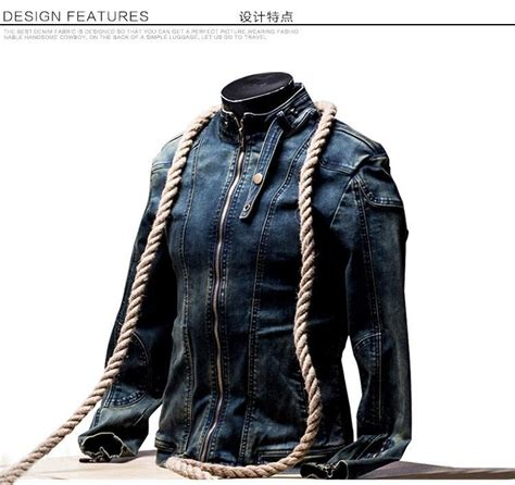S Casual Regular Outdoor Jackets Denim Jackets With vintage denim jacket mens fall fashion slim fit
