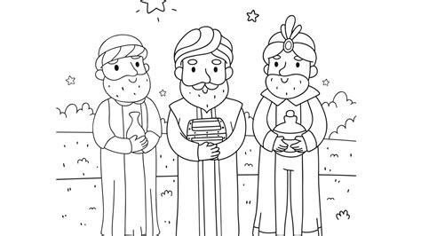 Imagenes De Reyes Magos Animados Para Colorear | reyes magos para colorear