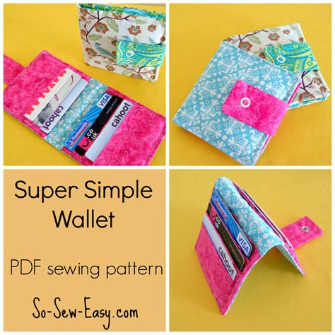 patterns sewing easy super simple wallet pdf sewing pattern from printorplain