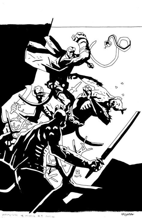 hellboy in hell volume dark horse reveals never before seen mike mignola cover art exclusive nerdist
