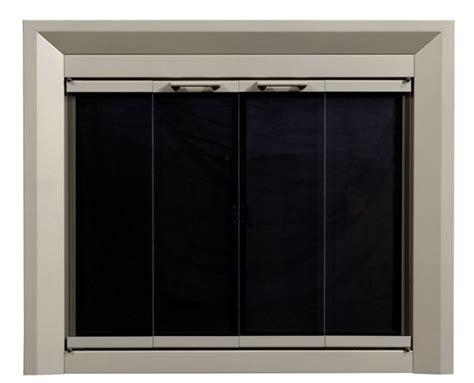 nickel fireplace doors large replacement