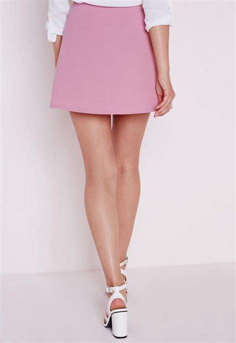 Aline Skirt scuba a line skirt mauve missguided