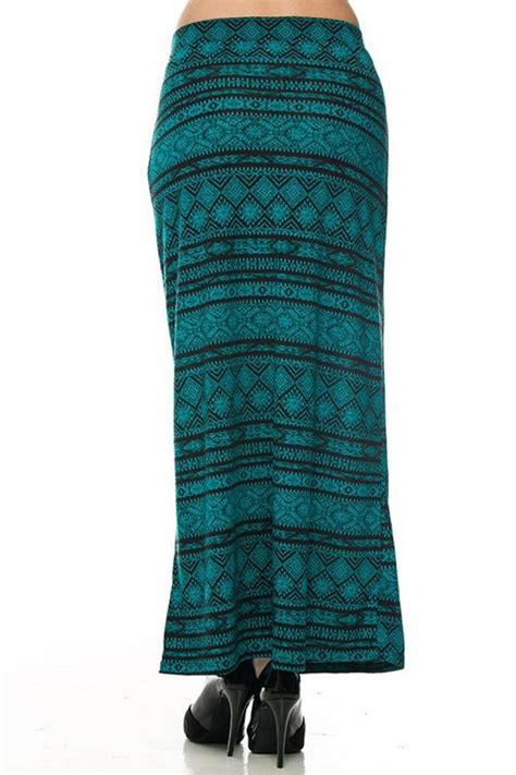 ambiance apparel aztec print maxi skirt from vermont by
