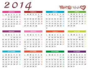 Calendario L 2014 Colorato Calendario 2014 Tascabile Da Portare Sempre Con Se