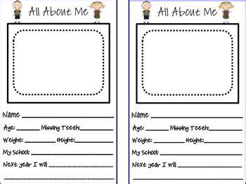 Preschool Memory Book By First Grade Fanatics Teachers Pay Teachers Preschool Memory Book Template