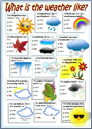 what is rainfall pattern in french english stuff esl weather worksheet english pinterest