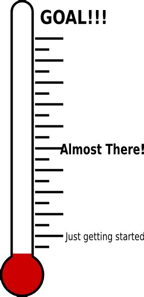 printable fundraising thermometer clipart best