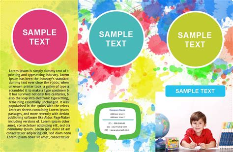 play school brochure templates image collections free