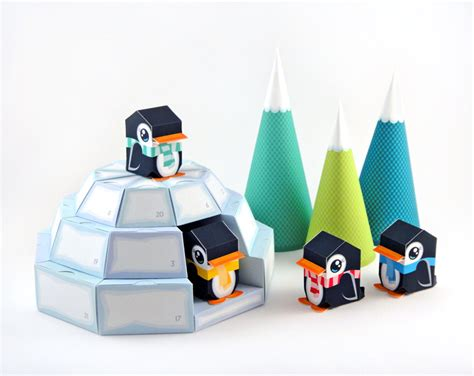 Paper Crafts Pdf - igloo advent calendar printable paper craft pdf on luulla