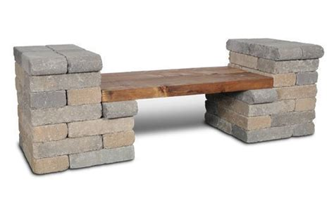 stacked stone bench stacked stone bench outdoor hardscapes pinterest