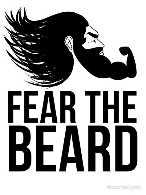 Tshirt Fear The Beard Logo Limited quot fear the beard quot stickers by ameeraalqaed redbubble