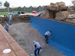 pool construction phases