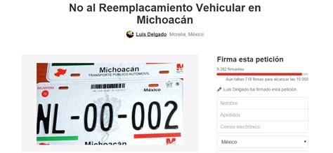 requisitos para para placas de michoacan requisitos para reemplacamiento en michoacan vive maravat