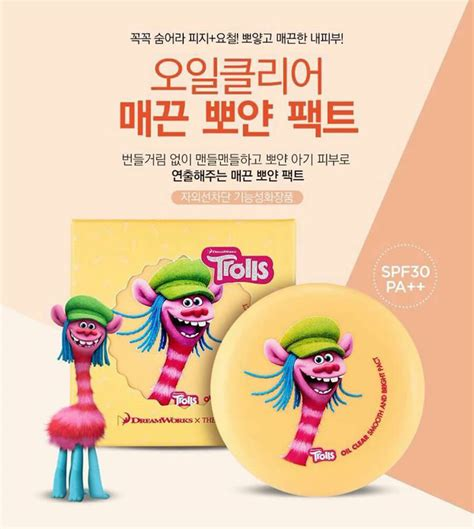 Faceshop Trolls Edition Clear Blotting Pact phấn phủ trolls clear blotting pact