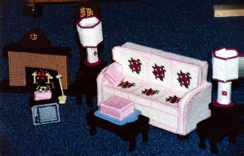 plastic dolls house furniture 17 best images about plastic canvas dollhouse on pinterest plastic canvas crafts