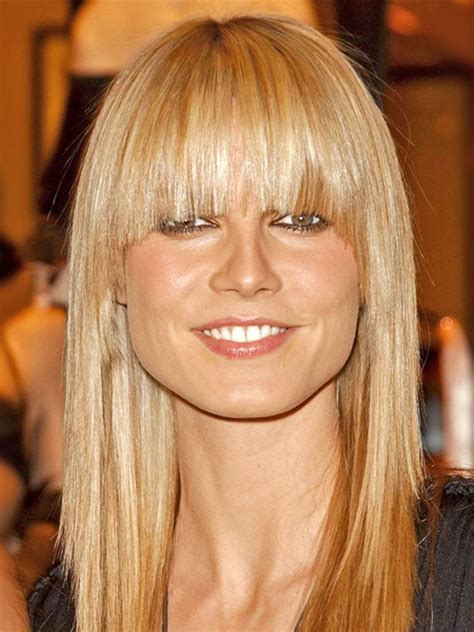 blunt bangs hairstyles blonde images blonde smooth hairstyle with blunt bangs hair for women