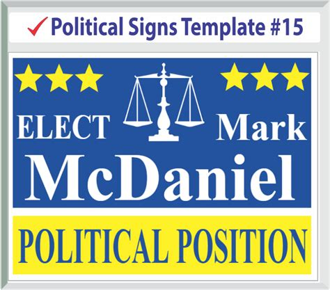 Political Templates Election Sign Template