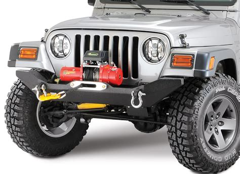 jeep wrangler front bumper body armor tj 19531 4x4 front formed winch bumper for 87