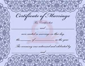 marriage certificate template microsoft word sle marriage certificate template 6 documents in pdf