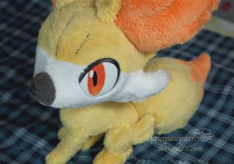 Handmade Plush - fennekin handmade plush by piquipauparro on deviantart