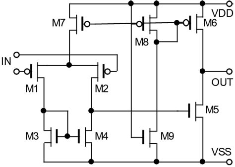 gate transistor minimum a simple op all transistors minimum sizes for mosfets w l 1