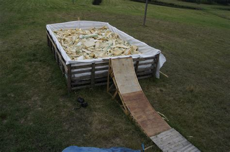at backyard foam pit in starogard gdański poland photo