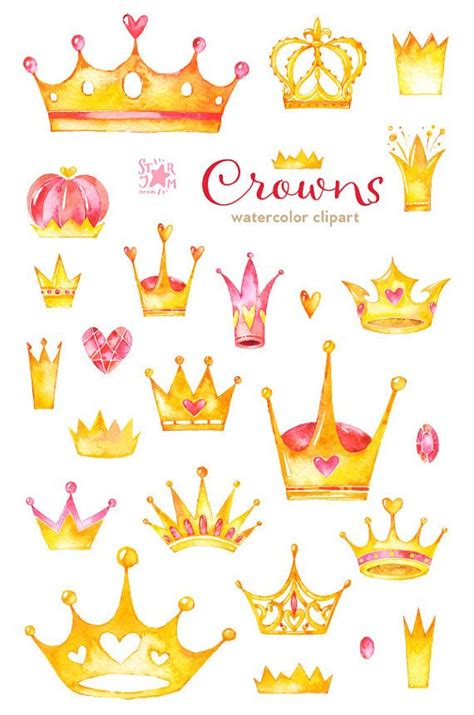 drawn crown gold crown pencil and in color drawn crown