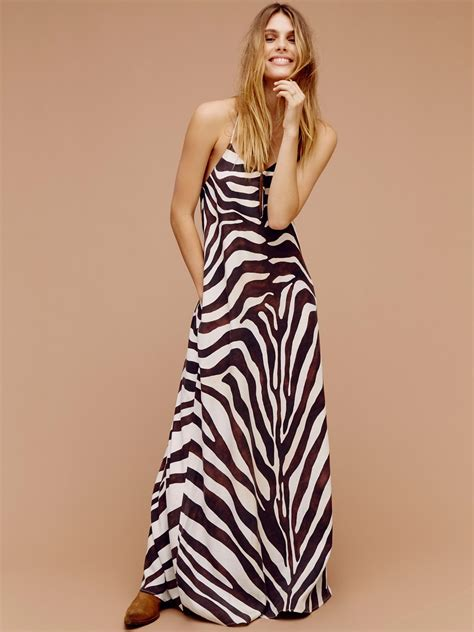 Zebra Dress mara hoffman zebra maxi dress at free clothing boutique