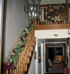 staircase christmas garland home design ideas pictures