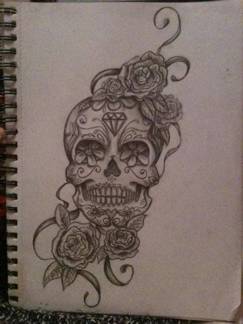 flower sugar skull tattoo designs skull tattoos page 31
