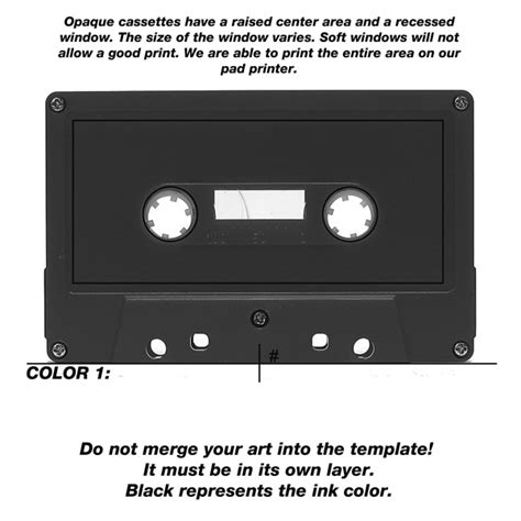 Cassette Tape Label Template Microsoft Word