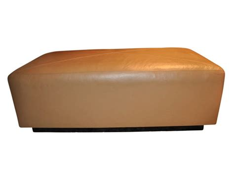 Custom Leather Ottoman Custom Leather Ottoman The Local Vault