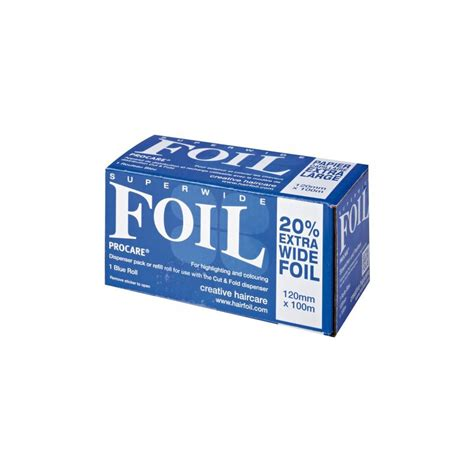 Superwide Colour procare superwide blue foil roll highlighting colouring