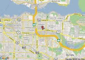 burnaby canada map map of executive hotel burnaby burnaby
