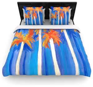 Blue And Orange Bedding Sets Uk Rosie Brown Quot Florida Autumn Quot Blue Orange Cotton Duvet