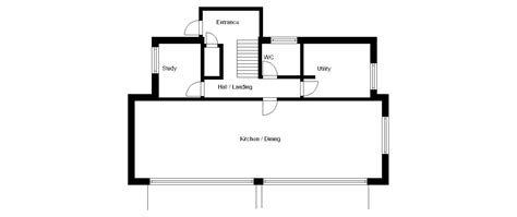 house plan striking contemporary self build on a garden