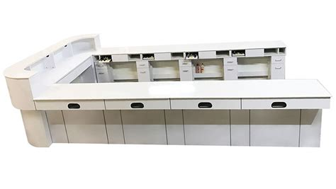Nail Bar Table And Chairs Nail Bar Tables Continuous Reception Desk Nail Bar Table 01