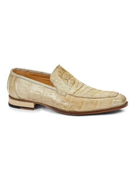 bone color shoes bone color alligator skin print slip on style mauri italy dr