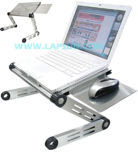 china aluminum mini portable laptop desk with mouse pad
