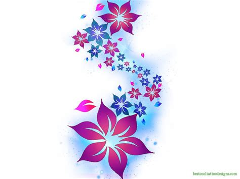 three flower tattoo designs flower designs flash best cool designs