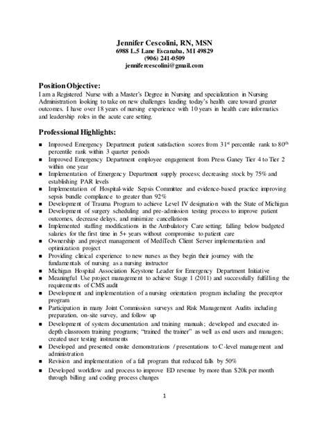 Informatics Resume Cescolini Informatics Resume 2016
