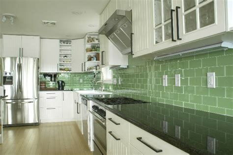 Green Kitchen Backsplash Tile 38 Best Images About Backsplash Ideas On Stove Subway Tile Backsplash And Tile