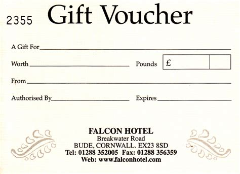 Hotel Gift Voucher Letter Format News Offers From The Falcon Hotel In Bude